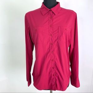 Lucy Cranberry Walkabout Button Down Shirt